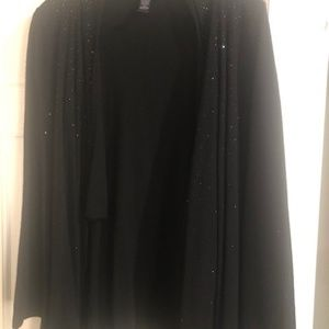 INC Black Sequin open front Cardigan Sweater
